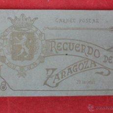 Postales: F-1198.RECUERDO DE ZARAGOZA. CARNET POSTAL. 20 TARJETAS POSTALES. EDICIONES M. ARRIBAS. AÑOS 30. . Lote 49304052