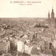 Postales: ZARAGOZA Nº21 VISTA PANORÁMICA L. ROISIN FOTG. CIRCULADA EN 1927. Lote 49366586