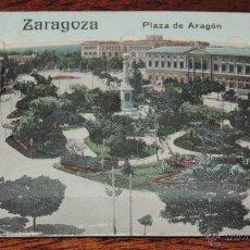 Postales: POSTAL DE ZARAGOZA, DESPLEGABLE CON 12 VISTAS, PLAZA DE ARAGÓN, (ED.EDUARDO SHILLING), NO CIRCULADA.. Lote 49391752