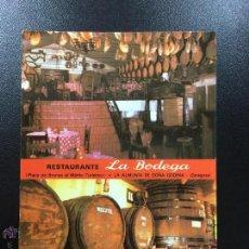 Postales: POSTAL RESTAURANTE LA BODEGA - LA ALMUNIA DE DOÑA GODINA, ZARAGOZA - SIN CIRCULAR.. Lote 49523099