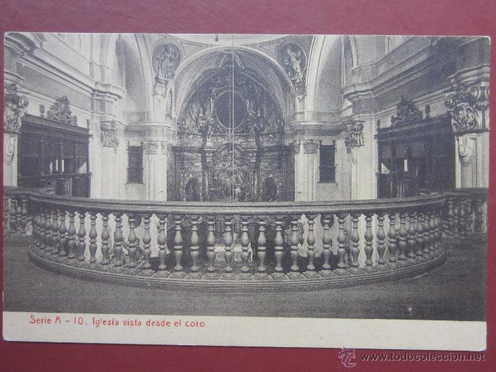 ZARAGOZA, COLEGIO ESCUELAS PIAS , IGLESIA VISTA DESDE EL CORO. (FOTOTIPIA THOMAS). SERIE A Nº10. (Postales - España - Aragón Antigua (hasta 1939))