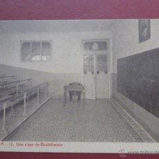 Postales: ZARAGOZA, COLEGIO ESCUELAS PIAS , UNA CLASE DE BACHILLERATO. (FOTOTIPIA THOMAS). SERIE A Nº13.. Lote 49640920