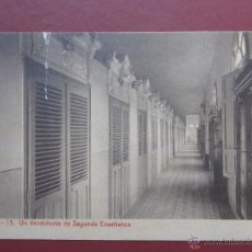 Postales: ZARAGOZA,COLEGIO ESCUELAS PIAS ,UN DORMITORIO DE SEGUNDA ENSEÑANZA.(FOTOTIPIA THOMAS). SERIE A Nº15.. Lote 49641034