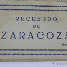 Postales: P-1574. ZARAGOZA. RECUERDO DE ZARAGOZA. SERIE 1. 20 POSTALES EN ACORDEON. EDICIONES ARRIBAS.AÑOS 30. Lote 49978789