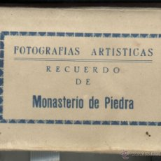 Postales: MONASTERIO DE PIEDRA - DESPLEGABLE CON 11 VISTAS. Lote 50427658