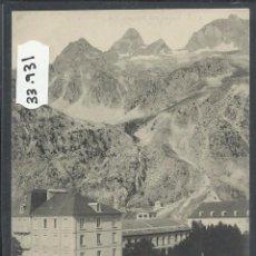 Postales: BALNEARIO DE PANTICOSA - PLAZA Y JARDINES DEL CASINO - THOMAS - (33931). Lote 50624281