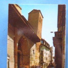 Postales: POSTAL DE ZARAGOZA. AÑO 1973. CALATAYUD. CALLE DATO Y SAN PEDRO DE LOS FRANCOS TORRE INCLINADA. 1705. Lote 50627028
