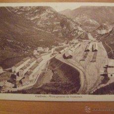 Postales: CANFRANC VISTA GENERAL DE ARAÑONES - F. DE LAS HERAS JACA - CIRCA 1920 - SIN CIRCULAR - FERROCARRIL. Lote 50751180