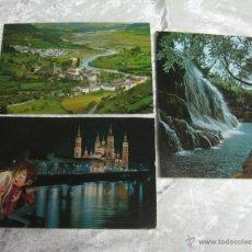 Postales: LOTE 3 POSTALES ZARAGOZA Y HUESCA. Lote 51027551