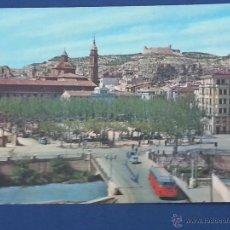Postales: POSTAL ZARAGOZA .CALATAYUD.VISTA PARCIAL,AL FONDO CASTILLO DE AYUD. Lote 51381767