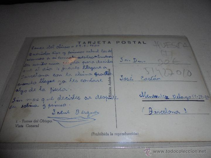 Postales: 5 - TORRES DEL OBISPO . VISTA GENERAL - EDC. ANDRES BURREL POSTAL CIRCULADA 14X9 CM. - Foto 2 - 51427010