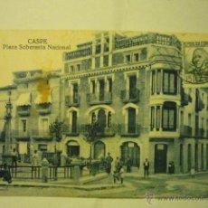 Postales: POSTAL CASPE.-PL.SOBERANIA NACIONAL.-CIRCULADA BB. Lote 51570895