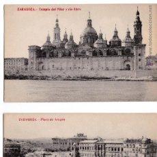 Postales: P- 2690. PAREJA POSTALES ZARAGOZA. FOTOTIPIA MADRIGUERA.. Lote 51707127