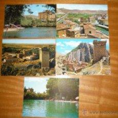 Postales: LOTE DE CINCO POSTALES DE ALHAMA DE ARAGON (ZARAGOZA). Lote 52344279