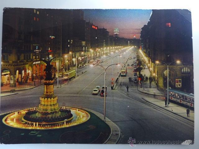 POSTAL. ZARAGOZA. PASEO DE LA INDEPENDENCIA. 1963 (Postales - España - Aragón Moderna (desde 1.940))