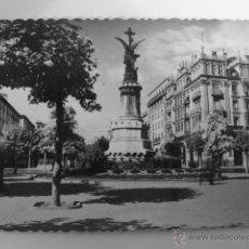 Postales: TARJETA POSTAL. ZARAGOZA. MONUMENTO A LOS MÁRTIRES. PLAZA DE LA CONSTITUCIÓN, ACTUAL PLAZA ESPAÑA. Lote 52516219