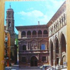 Postales: ALCAÑIZ. PALACIO MUNICIPAL Y LONJA. Lote 52560911