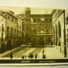 Postales: POSTAL ALCAÑIZ- PL.DE LA REPUBLICA ---BB. Lote 52643630