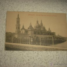 Postales: ZARAGOZA . VISTA DEL PILAR DESDE EL PUENTE DE PIEDRA. Lote 52666523