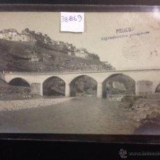 Postales: CASPE - PUENTE SOBRE EL GUADALUPE - FOTOGRAFICA SELLO EN SECO ROISIN - (38869). Lote 52868373