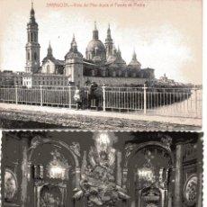 Postales: ZARAGOZA. 2 POSTALES M. ARRIBAS Y GARCIA GARRABELLA (CAPILLA VIRGEN DEL PILAR). Lote 52959918