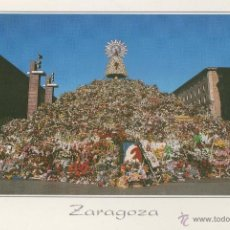 Postales: POSTAL- OFRENDA DE FLORES A LA VIRGEN.DEL PILAR-ZARAGOZA-ARAGON. Lote 53098762