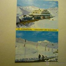 Postales: POSTAL SALLENT DE GALLEGO- ESTACION FORMIGAL--ESCRITA. Lote 53817209