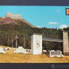 Cartes Postales: POSTAL / CAMPAMENTO RAMIRO EL MONJE / SELVA DE OZA - HECHO / CIAL. ESCUDO DE ORO / ESCRITA / HUESCA. Lote 53963149