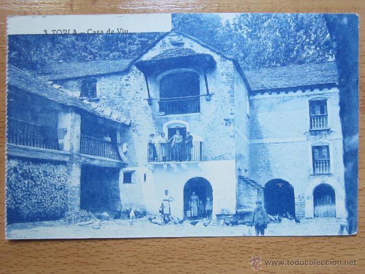 TORLA. HUESCA. CASA DE VIU. FONDA PRADAS. BROTO. HOSPEDAJE. (ED. SILVERIO PASCUAL, Nº3). ARRIBAS. (Postales - España - Aragón Antigua (hasta 1939))