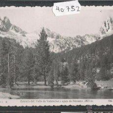 Postales: BENASQUE - 6 - VALLE DE VATISIELLES - FOTOGRAFICA - (40752). Lote 54181571