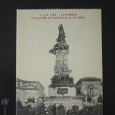 Postales: POSTAL ZARAGOZA. MONUMENTO DEL CENTENARIO DE LOS SITIOS. . Lote 54197960