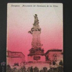 Postales: POSTAL ZARAGOZA. MONUMENTO DEL CENTENARIO DE LOS SITIOS. . Lote 54199433