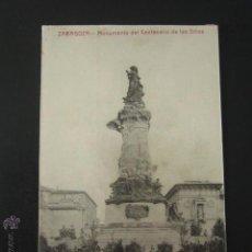 Postales: POSTAL ZARAGOZA. MONUMENTO DEL CENTENARIO DE LOS SITIOS. . Lote 54200249