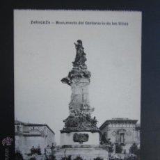 Postales: POSTAL ZARAGOZA. MONUMENTO DEL CENTENARIO DE LOS SITIOS. . Lote 54233470