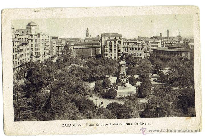 PS6051 ZARAGOZA 'PLAZA DE JOSÉ ANTONIO PRIMO DE RIVERA'. M. ARRIBAS. CIRCULADA. 1940 (Postales - España - Aragón Moderna (desde 1.940))