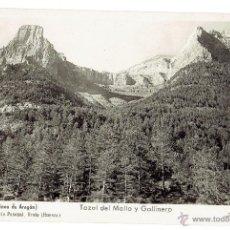 Postales: PS5558 ORDESA (ALTO PIRINEO DE ARAGÓN) 'TOZAL DE MALLO Y GALLINERO'. FOTOGRÁFICA. ZERKOWITZ. Lote 46781961