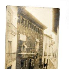 Postales: RUBIELOS DE MORA (TERUEL). CALLE DE Dª. JOSEFA VILLANUEVA. POSTAL FOTOGRÁFICA. Lote 55025718
