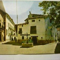 Postales: POSTL RUBIELOS DE MORA -PLAZA DE LA RAZA .- CIRCULADA. Lote 55821392