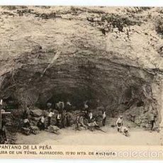 Postales: HUESCA PANTANO DE LA PEÑA EMBOCADURA DE UN TUNEL ALIVIADERO IMP. HAUSER Y MENET. Lote 55888129