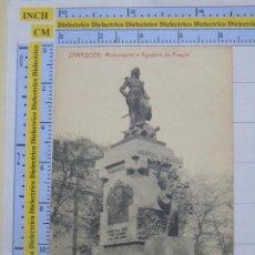 Postais: POSTAL DE ZARAGOZA. AÑOS 10 30. MONUMENTO A AGUSTINA DE ARAGÓN. 205 THOMAS. 998. Lote 56053126