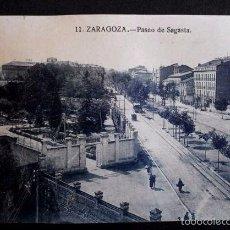 Postales: ZARAGOZA - Nº 11 PASEO DE SAGASTA -PRIMERA SERIE- POSTAL NO CIRCULADA- ARAGÓN. Lote 56087260