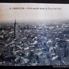 Postales: ZARAGOZA - Nº 9 VIST PARCIAL DESDE LA TORRE DEL PILAR -PRIMERA SERIE- POSTAL NO CIRCULADA- ARAGÓN. Lote 56087333