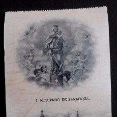 Postales: ZARAGOZA - Nº 4 RECUERDO DE ZARAGOZA -PRIMERA SERIE- POSTAL NO CIRCULADA- ARAGÓN. Lote 56087469