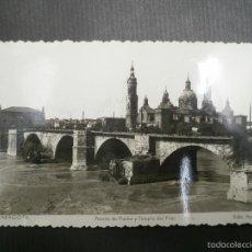 Postales: POSTAL DE ZARAGOZA Nº 17.PUENTE DE PIEDRA Y TEMPLO DEL PILAR. ARRIBAS. SIN CIRCULAR. Lote 56127538