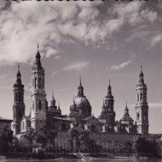 Postales: ZARAGOZA EL PILAR REFLEJADO EN EL EBRO (SIN CIRCULAR) . Lote 56662635
