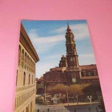 Postales: POSTAL-ZARAGOZA-CATEDRAL DE LA SEO-FACHADA PRINCIPAL-1960-NUEVA-VER FOTOS.. Lote 57185508