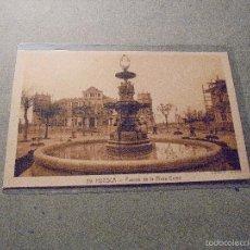 Postales: 29 - HUESCA - FUENTE DE LA PLAZA CAMO - L. ROISIN FOT. 14X9 CM. . Lote 57208908