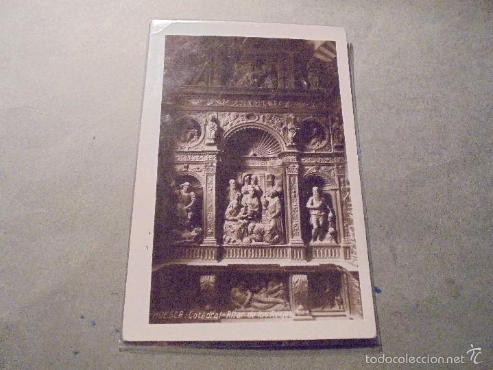HUESCA - CATEDRAL ALTAR DE LOS REYES . FOTOGRAFICA 14X9 CM. (Postales - España - Aragón Antigua (hasta 1939))