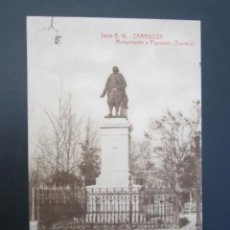 Postales: POSTAL ZARAGOZA. MONUMENTO A PIGNATELLI. TORRERO. . Lote 57618128