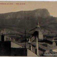 Postales: POSTAL ALREDEDORES DE JACA ÑOS PAÑA DE OREL LOS TECHOS ED. AÑAÑOS HUESCA. Lote 57779228